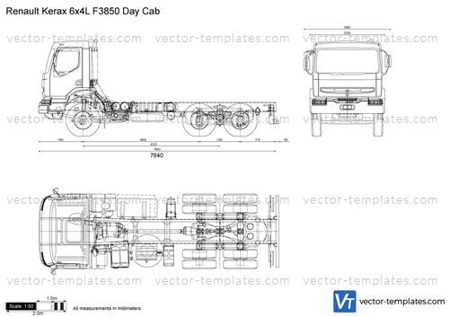 Renault Kerax 6x4L F3850 Day Cab