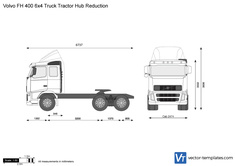 Volvo FH 400 6x4 Truck Tractor Hub Reduction
