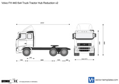 Volvo FH 440 6x4 Truck Tractor Hub Reduction