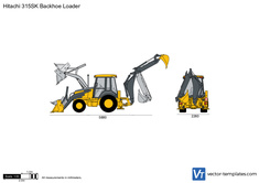 Hitachi 315SK Backhoe Loader