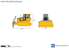 Hitachi 750J LGP Crawler Dozer