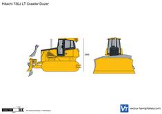 Hitachi 750J LT Crawler Dozer