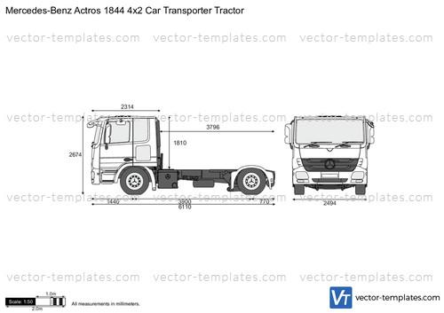 Mercedes-Benz Actros 1844 4x2 Car Transporter Tractor