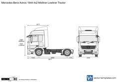 Mercedes-Benz Actros 1844 4x2 Midliner Lowliner Tractor