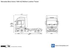 Mercedes-Benz Actros 1846 4x2 Midliner Lowliner Tractor