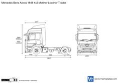 Mercedes-Benz Actros 1848 4x2 Midliner Lowliner Tractor