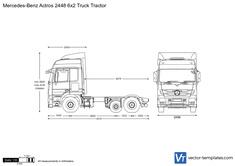 Mercedes-Benz Actros 2448 6x2 Truck Tractor