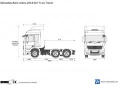 Mercedes-Benz Actros 2544 6x2 Truck Tractor