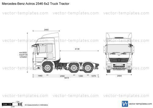 Mercedes-Benz Actros 2546 6x2 Truck Tractor