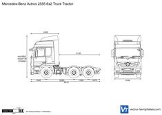 Mercedes-Benz Actros 2555 6x2 Truck Tractor