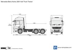 Mercedes-Benz Actros 2651 6x4 Truck Tractor