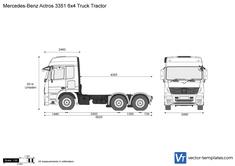 Mercedes-Benz Actros 3351 6x4 Truck Tractor