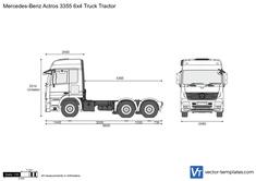 Mercedes-Benz Actros 3355 6x4 Truck Tractor