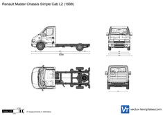 Renault Master Chassis Simple Cab L2