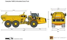 Caterpillar 740B EJ Articulated Dump Truck