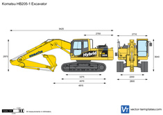 Komatsu HB205-1 Excavator