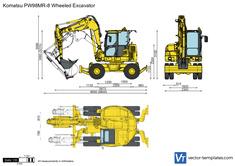 Komatsu PW98MR-8 Wheeled Excavator