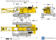 Liebherr HS 845 HS Litronic Hydraulic Crawler Crane