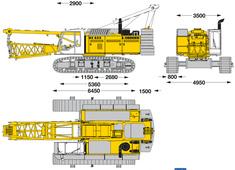 Liebherr HS 855 HD Litronic Hydraulic Crawler Crane
