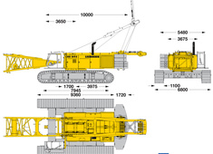Liebherr HS 895 HD Litronic Hydraulic Crawler Crane