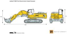 Liebherr R 966 Front Shovel Litronic Crawler Excavator