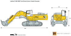 Liebherr R 980 SME Front Shovel Litronic Crawler Excavator