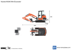 Kubota KX040 Mini Excavator