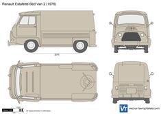 Renault Estafette Bed Van 2 Pick-Up