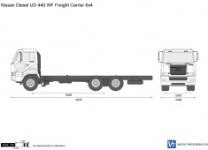 Nissan Diesel UD 440 WF Freight Carrier 6x4