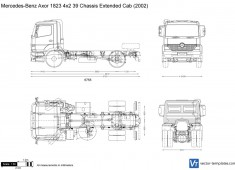 Mercedes-Benz Axor 1823 4x2 39 Chassis Extended Cab