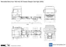 Mercedes-Benz Axor 1823 4x2 39 Chassis Sleeper Cab High