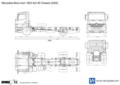 Mercedes-Benz Axor 1823 4x2 45 Chassis