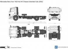 Mercedes-Benz Axor 1823 4x2 45 Chassis Extended Cab