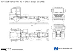Mercedes-Benz Axor 1823 4x2 45 Chassis Sleeper Cab