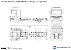 Mercedes-Benz Axor 1823 4x2 45 Chassis Sleeper Cab High
