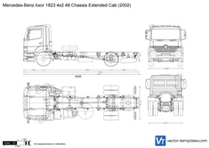 Mercedes-Benz Axor 1823 4x2 48 Chassis Extended Cab