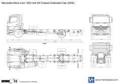 Mercedes-Benz Axor 1823 4x2 54 Chassis Extended Cab