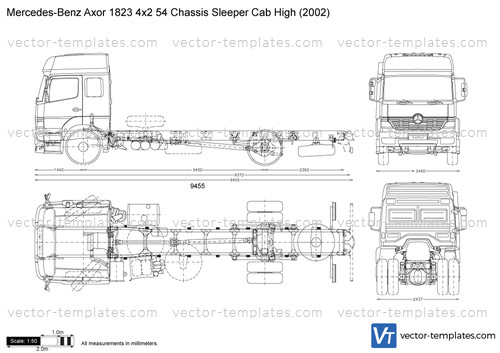 Mercedes-Benz Axor 1823 4x2 54 Chassis Sleeper Cab High