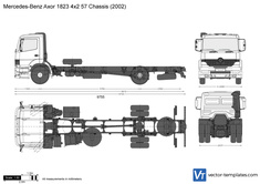 Mercedes-Benz Axor 1823 4x2 57 Chassis