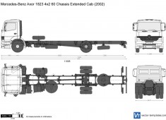 Mercedes-Benz Axor 1823 4x2 60 Chassis Extended Cab