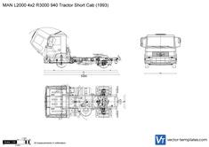 MAN L2000 4x2 R3000 940 Tractor Short Cab