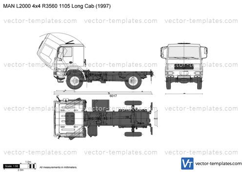 MAN L2000 4x4 R3560 1105 Long Cab