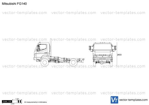 Templates - Trucks - Mitsubishi-Fuso - Mitsubishi FG140