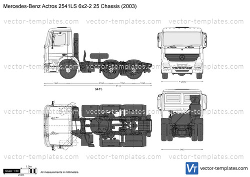 Mercedes-Benz Actros 2541LS 6x2-2 25 Chassis