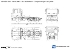 Mercedes-Benz Actros 2541LS 6x2-2 25 Chassis Compact Sleeper Cab