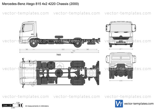 Mercedes-Benz Atego 815 4x2 3620 Chassis