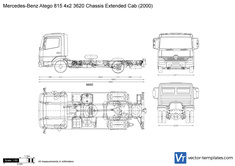 Mercedes-Benz Atego 815 4x2 3620 Chassis Extended Cab