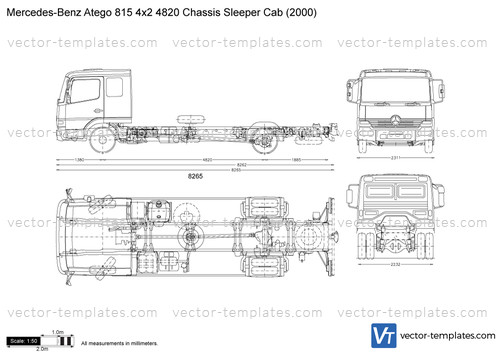 Mercedes-Benz Atego 815 4x2 4820 Chassis Sleeper Cab