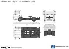 Mercedes-Benz Atego 817 4x2 3020 Chassis