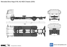 Mercedes-Benz Atego 818L 4x2 4820 Chassis